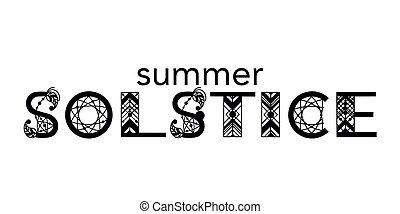 solstice, été, lettering.