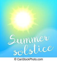 solstice, été, poster.
