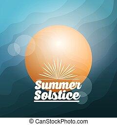 solstice, été, saison