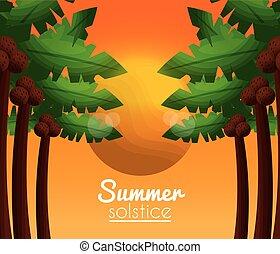 solstice, été, vacances