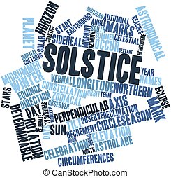 Solstice - Abstract word cloud for Solstice with related...