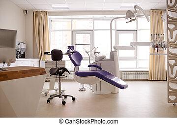solstrålar, dental, upplyst, rum