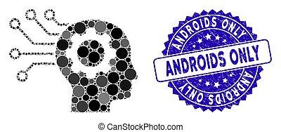 soltanto, collage, icona, artificiale, mente, androids,...