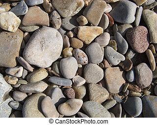 solto, pedras, e, cascalho