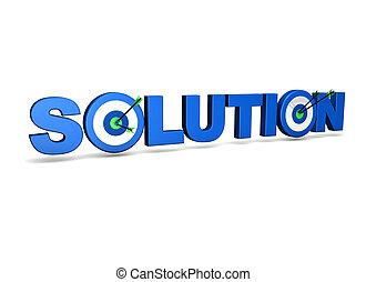 solução, alvo