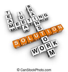solução, crossword