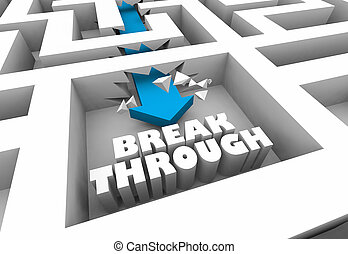 solução, ilustração, avanço, resolva, inovação, labirinto, problema, 3d