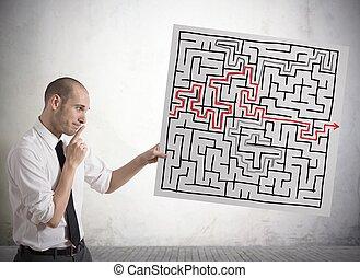 solução, para, a, labirinto