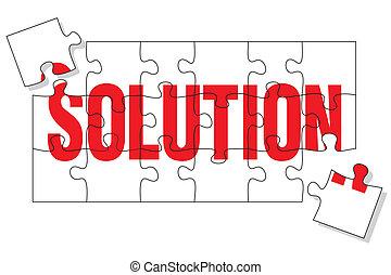 solução, quebra-cabeça