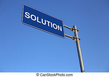 solução, sinal estrada