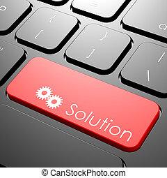 solução, teclado