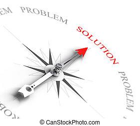solução, vs, resolver problema, -, negócio, consultar