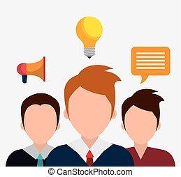 soluções, negócio, idéias
