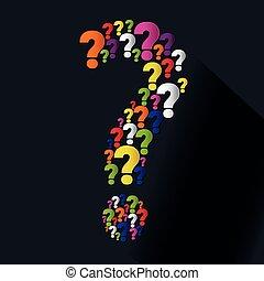 soluções, pergunta, ícones