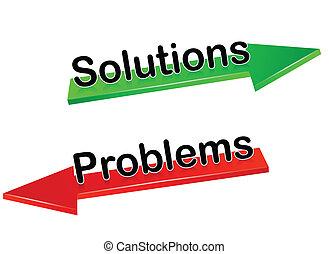 soluções, problemas