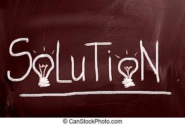 solución, concepto