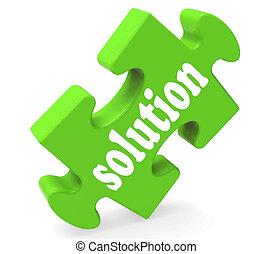 solución, exposiciones, éxito, desarrollo, y, estrategias