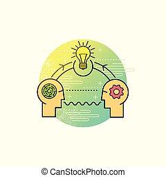 solucionar problema, vector, empresa / negocio