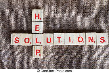 soluciones, y, ayuda