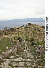 Solunto quater - Solunto archaeological park, near Palermo,...