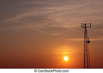 soluppgång, signaltjänst