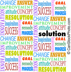 Solution Answer Goal Mission Word Background - A background...