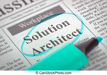 Solution Architect Wanted. 3d