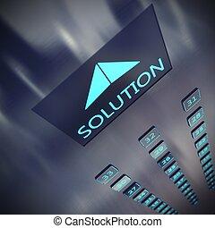 solution, ascenseur
