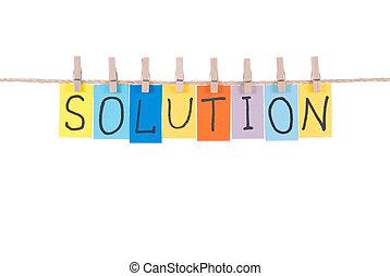 solution, bois, pendre, cheville, mots