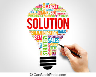 SOLUTION bulb word cloud