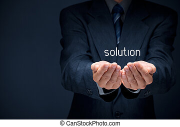 Solution - Businessman or consultant give you a business ...