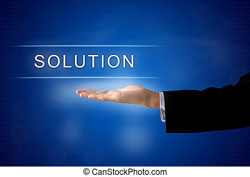 solution button on virtual screen