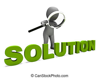 Solution Character Showing Achievement Resolution Succeed...
