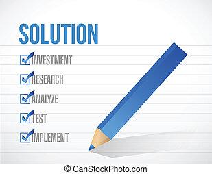 solution check list illustration