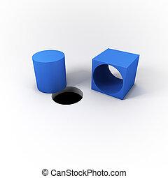 solution, cheville, arrière-plan., box., clair, rond, pensée...