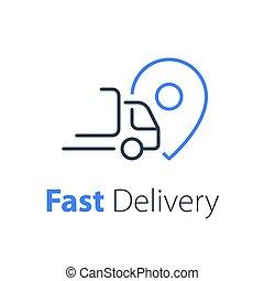 solution, compagnie, transport, distribution, logistique, concept, livraison, rapide, services, ruck