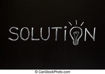 Solution concept on blackboard