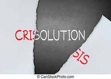 solution, crise, trouver