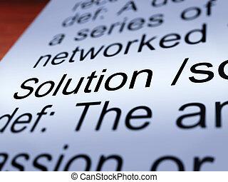 Solution Definition Closeup Showing Success