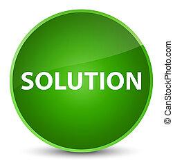 Solution elegant green round button