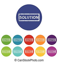 Solution flat icon