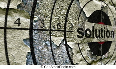 Solution grunge target