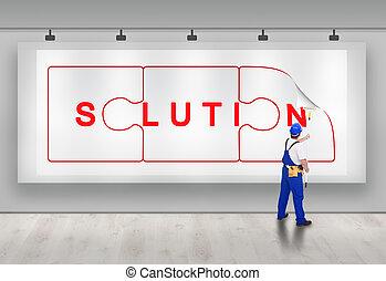 solution, -, idée, naissance, rédaction