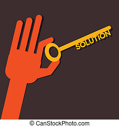 Solution key in hand