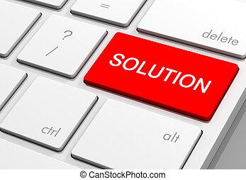 solution keyboard concept illustration