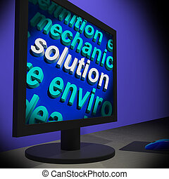 Solution On Monitor Shows Solving