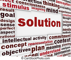 Solution poster design