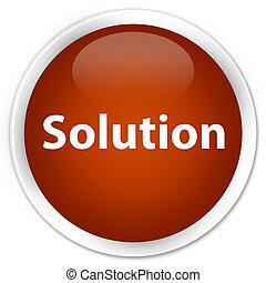 Solution premium brown round button