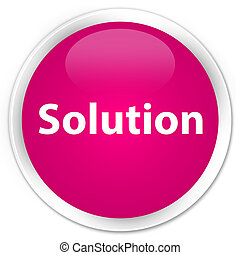 Solution premium pink round button