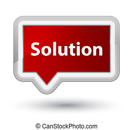 Solution prime red banner button